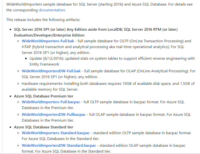 Sql Server 2017 restore WideWorldImporters Database – DataMajor